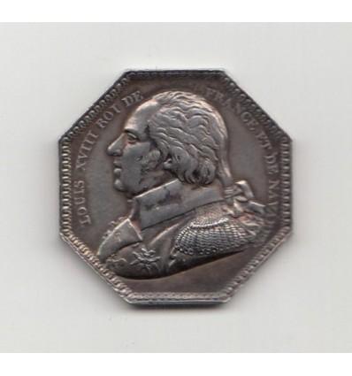 Jeton Louis XVIII compagnie des salines de l'Est 1814