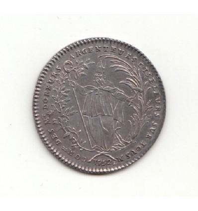 Jeton Louis XV corporation des doreurs ciseleurs 1752