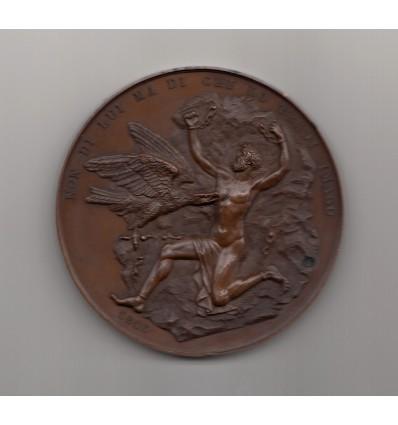 Italie médaille exil de Napoléon I à Sainte-Hélène 1816