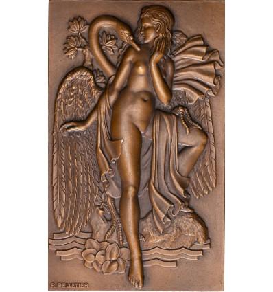Léda et le cygne par Raymond Pelletier s.d. ( 1934 )
