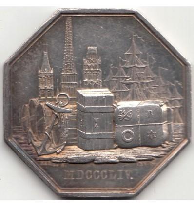 Jeton caisse d'escompte de Rouen 1854
