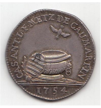 Jeton Louis François de Caumartin intendant de Metz 1754