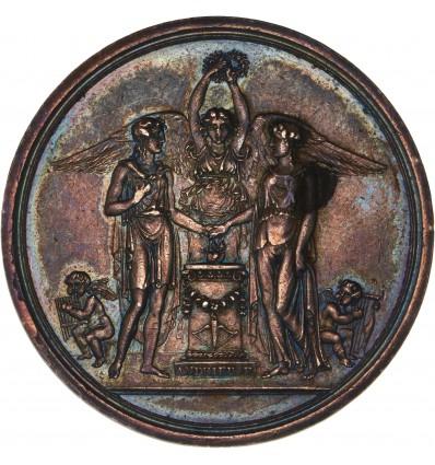 Premier Empire médaille de mariage par Andrieu s.d.