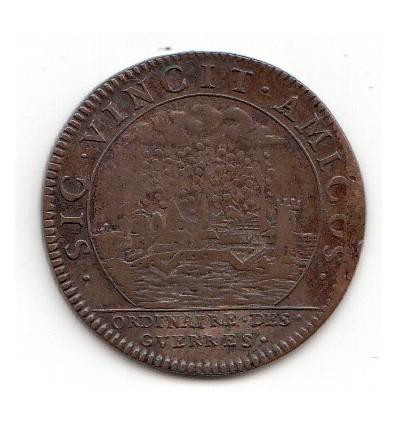 Jeton Louis XIV ordinaire des guerres prise de Dunkerque 1663