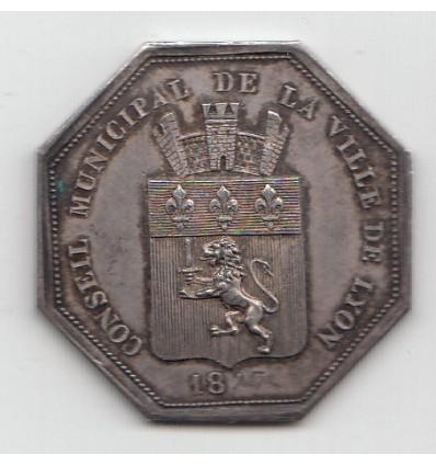 Jeton de présence mairie de Lyon 1827