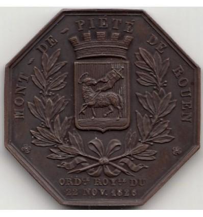 Jeton Napoléon I Mont-de-piété de Rouen 1847