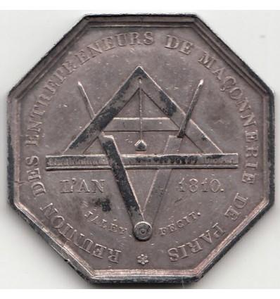 Jeton corporation des entrepreneurs en maçonnerie de Paris 1810