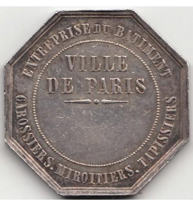 Jeton corporation des carrossiers, miroitiers et tapissiers de Paris 1853