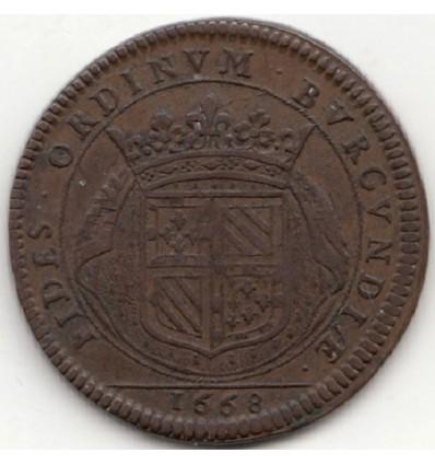 Jeton Etats de Bourgogne 1668