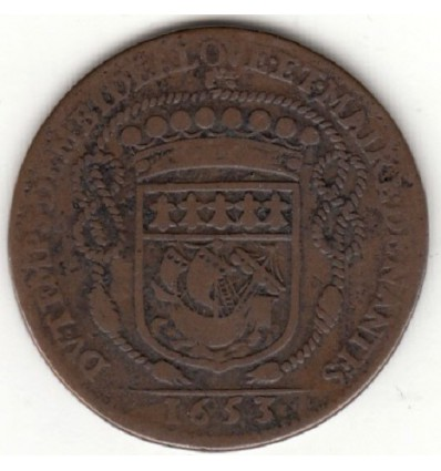 Jeton aux armes de Claude Bidé, maire de Nantes 1653