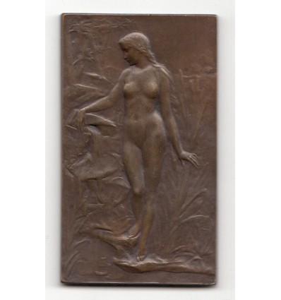 Source et enfant pêcheur par Georges-Henri Prud'homme s.d.