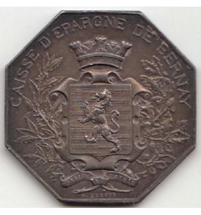 Jeton caisse d'épargne de Bernay, concours dévoué 1900