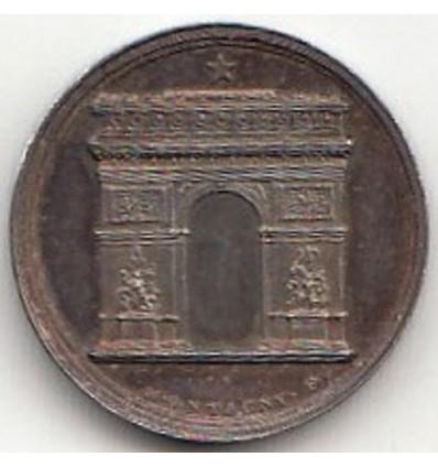 Médaille Napoléon I l'Arc de triomphe s.d.