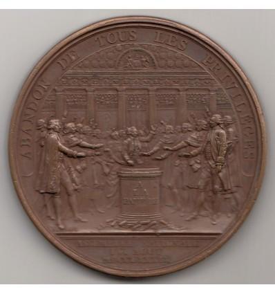 Louis XVI abandon des privilèges par Duvivier 1789