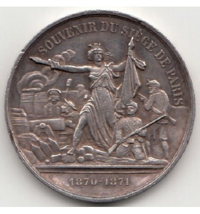 Jeton de présence souvenir du siège de Paris 1870-1871