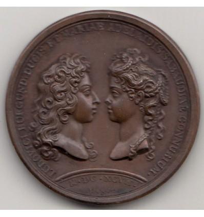 Louis XIV mariage du duc de Bourgogne et de Marie-Adélaïde de Savoie 1697