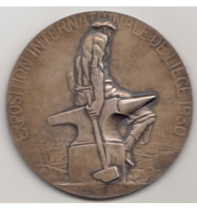 Belgique, médaille de l'exposition internationale de Liège 1930