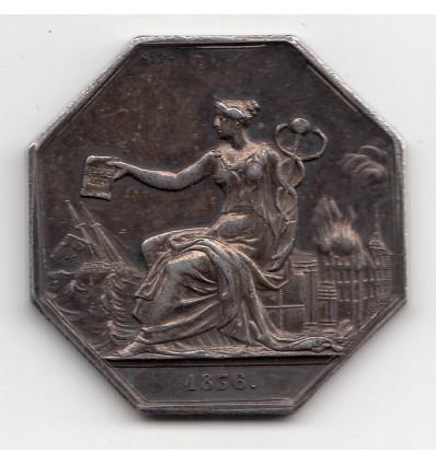 jeton l'Indemnité compagnie d'assurances 1836