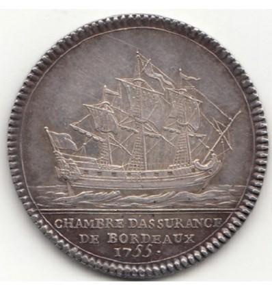 Jeton Louis XV chambre d'assurances de Bordeaux 1755