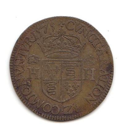Jeton Henri III chambre des comptes de Blois 1575