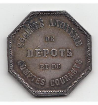 Jeton société de dépôts et de comptes courants 1863