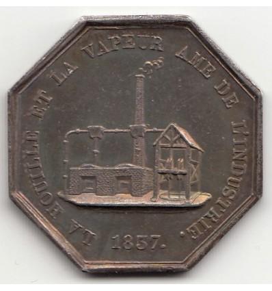 Jeton compagnie des mines de houille de la Grand-Croix ( Loire ) 1837