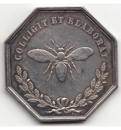 Jeton société des sciences historiques et naturelles de l'Yonne 1847