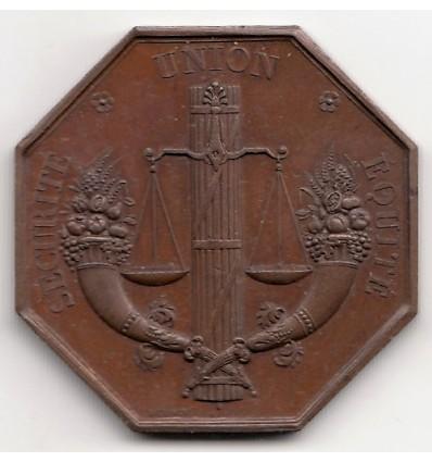 Jeton assurances La Fraternelle 1838