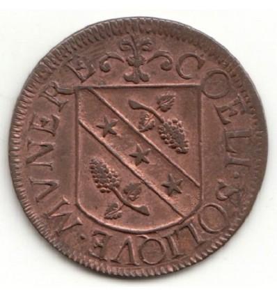 Franche Comté jeton Charles II aux armes de Jean-Baptiste Mareschal, gouverneur de Besançon 1671