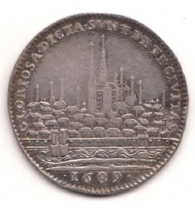 Jeton Louis XIV ville de Chartres 1689