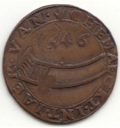Ville d'Anvers, méreau corporation des brouetteurs 1546