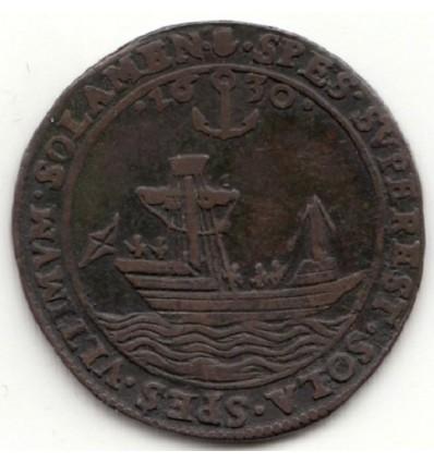 Pays-Bas méridionaux, Jeton Philippe IV Anvers situation désastreuse des Pays-Bas espagnols 1630