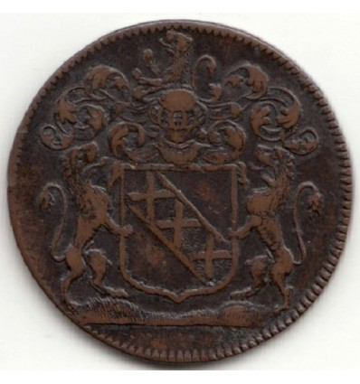 Bourgogne Jeton aux armes de Louis de Thésut 1678