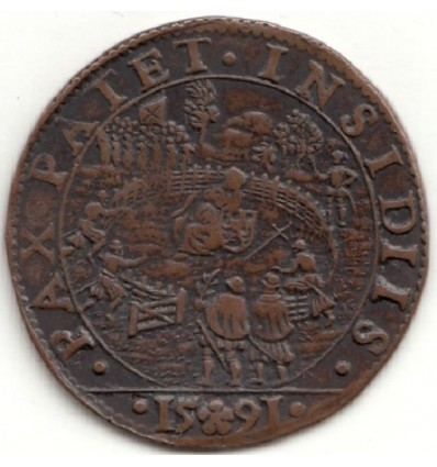 Pays-Bas méridionaux, Jeton Philippe II 1591