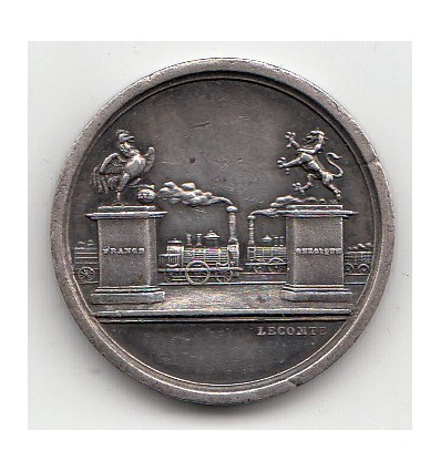 Inauguration du chemin de fer du Nord  France-Belgique 1846