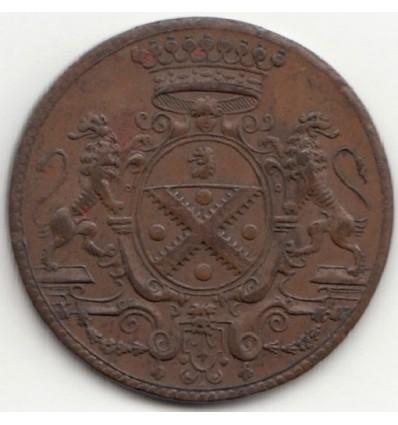 Noblesse du Lyonnais, jeton aux armes de Léonard de Bathéon et de Bonne Pupil s.d.