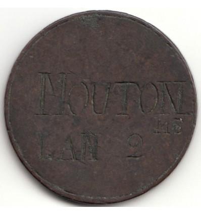 """Jeton de corporation """" MOUTON ME """" 1793"""