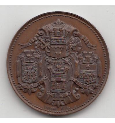 Jeton caisse d'escompte d'Orléans 1856