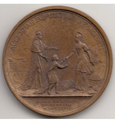 Louis XV L'éducation du Dauphin par Duvivier 1736