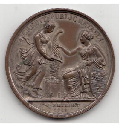 Crédit public rétabli Bourse de Paris 1846