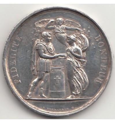 """Médaille de mariage """" Fidélité Bonheur """" par De Puymaurin 1833"""