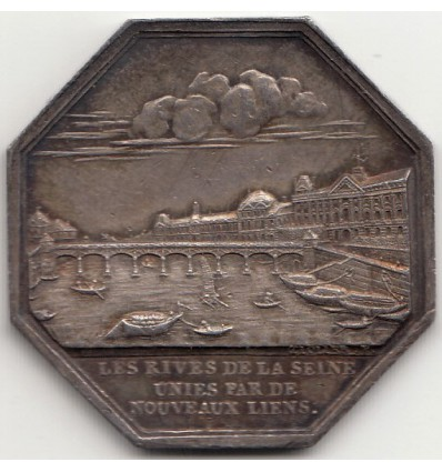Jeton construction des trois ponts en fer sur la Seine 1800