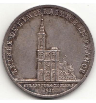 Jeton Napoléon I entrée de Marie-Louise à Strasbourg 1810