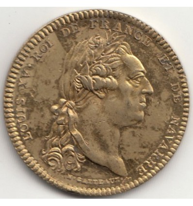 Jeton série métallique des rois de France, Règne de Louis XV