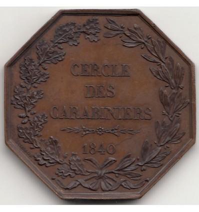 Jeton cercle des carabiniers de Paris, prix d'adresse 1840