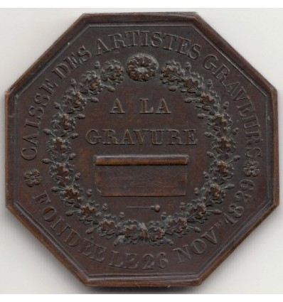 Jeton société pour l'encouragement de la gravure en France 1829
