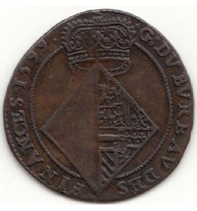 Pays-Bas méridionaux, jeton du bureau des finances d'Anvers 1599