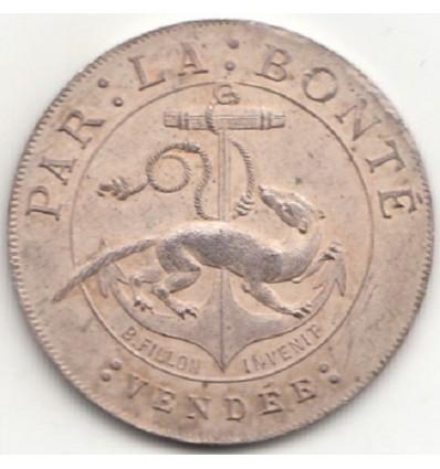 Vendée La Châtaigneraie jeton de la famille Bailly du Pont 1856