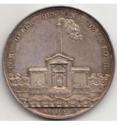 Jeton compagnie générale des mines de la Loire 1844