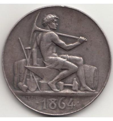 Jeton compagnie des quatre mines réunies de Graissessac ( Hérault ) 1864